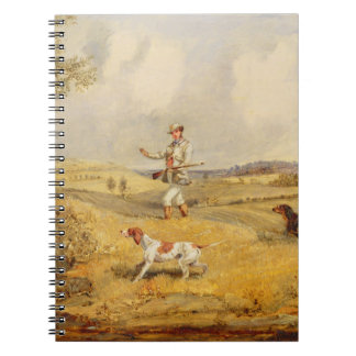 Partridge Shooting (oil on panel) Note Books
