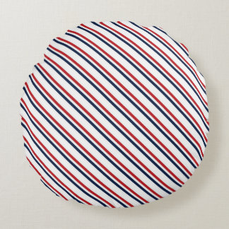 Partriotic pattern round pillow