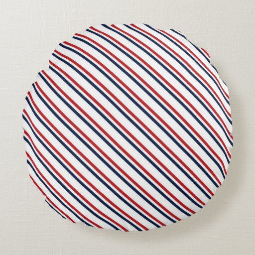Partriotic pattern round pillow Zazzle