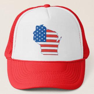 Partriotic Wisconsin Hat