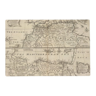 Parts of Barbary, Africa Laminated Placemat