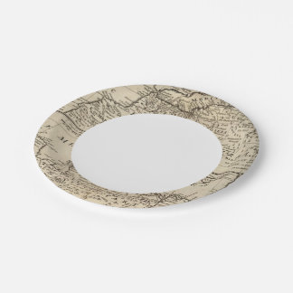 Parts of Barbary, Africa 7 Inch Paper Plate