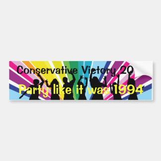 party 2010 bumper sticker