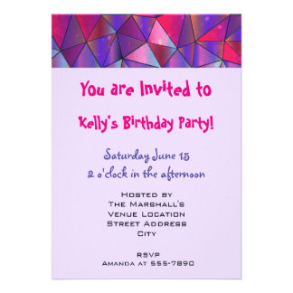 Party! Abstract Triangle Design Card