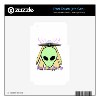 Party Ailen Decal For iPod Touch 4G