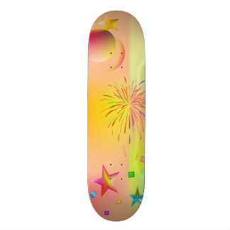 party and colors skateboard
