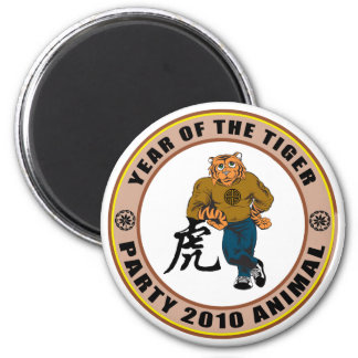 Party Animal 2010 Year of The Tiger Refrigerator Magnet