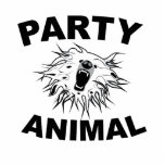 Party Animal. A Fun Design for Fun People. Acrylic Cut Outs