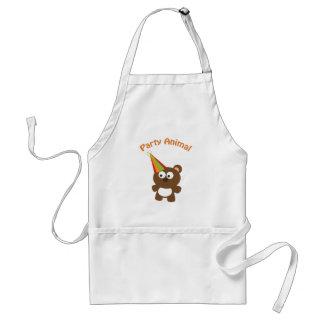 Party animal bear adult apron