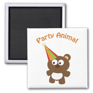 Party animal bear magnet