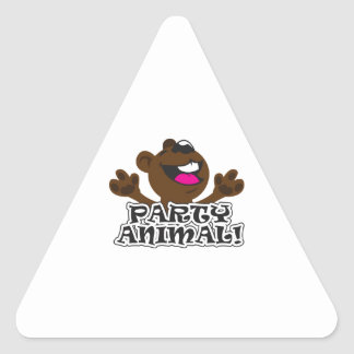 PARTY ANIMAL BEAR TRIANGLE STICKER
