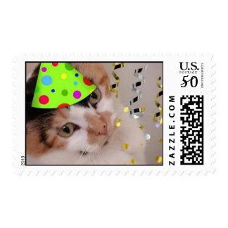 Party Animal Calico/Birthday Postage