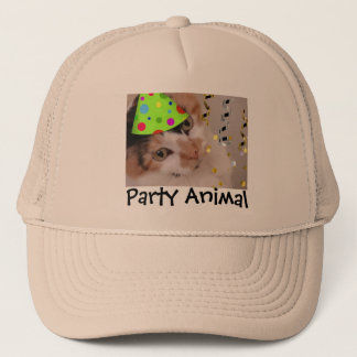 Party Animal/Calico Cat Trucker Hat