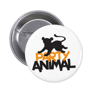 Party Animal! cat leaping Button