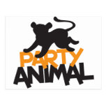 Party Animal! cat leaping Postcards
