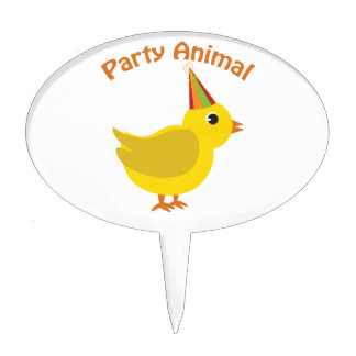Party Animal Chick Cake Topper