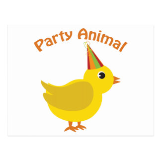 Party Animal Chick Postcard