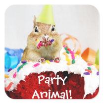 Party Animal Chipmunk Sticker