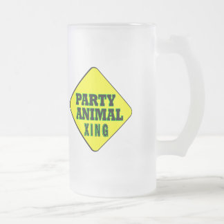 Party Animal Crossing Frosted Glass Beer Mug