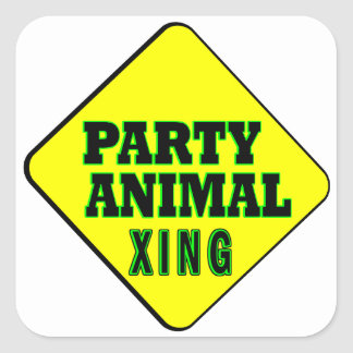 Party Animal Crossing Square Sticker