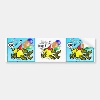 Party Animal Fish Bumper Stickers