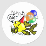 Party Animal Fish Stickers