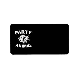 Party Animal. For people who like to have fun. Label
