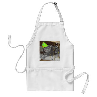 Party Animal Gray Cat Adult Apron