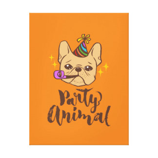 Party Animal - Hand Lettering Typography Design Canvas Print