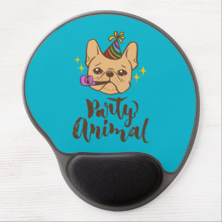 Party Animal - Hand Lettering Typography Design Gel Mouse Pad