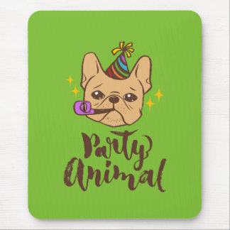 Party Animal - Hand Lettering Typography Design Mouse Pad