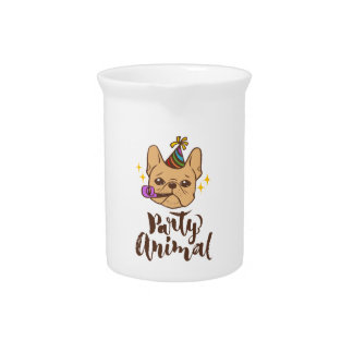 Party Animal - Hand Lettering Typography Design Pitcher