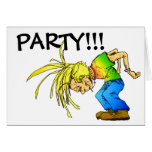 Party Animal Heavy Metal Mosh Pit HeadBanger Cards