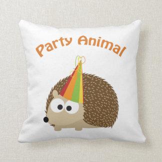 Party Animal! Hedgehog Throw Pillow