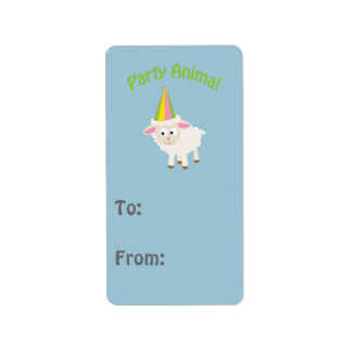 Party Animal! Lamb Label