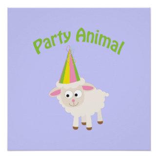 Party Animal Lamb Poster