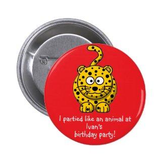 Party Animal Leopard Button Favors Party Souvenir