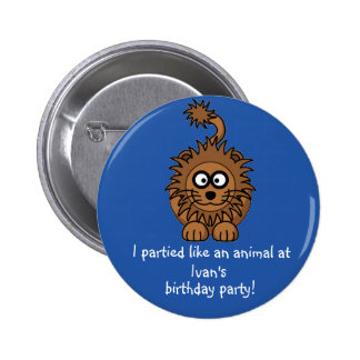 Party Animal Lion Button Favors Party Souvenirs