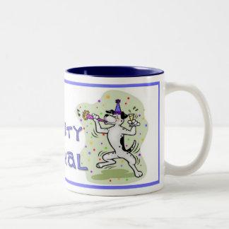 Party Animal Two-Tone Coffee Mug
