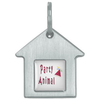 Party Animal Pet Name Tag