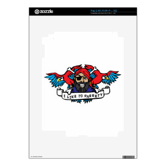 Party Animal Pirate iPad 2 Decals