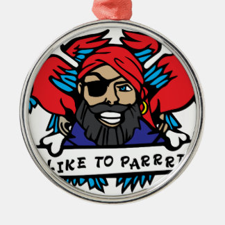 Party Animal Pirate Metal Ornament
