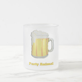 Party animal products frosted glass coffee mug