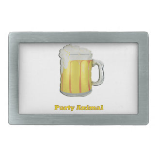 Party animal products rectangular belt buckle