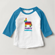 PARTY ANIMAL Rainbow Donkey Piñata Birthday Fiesta Baby T-Shirt