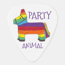 Party ANIMAL Rainbow Donkey Piñata Birthday Fiesta Guitar Pick