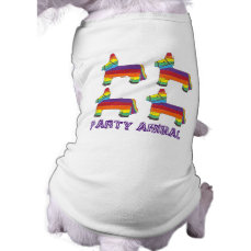 PARTY ANIMAL Rainbow Donkey Piñata Birthday Fiesta T-Shirt