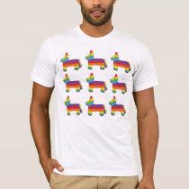 PARTY ANIMAL Rainbow Donkey Piñata Birthday Fiesta T-Shirt