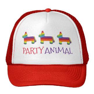 Party ANIMAL Rainbow Donkey Piñata Birthday Fiesta Trucker Hat