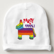 PARTY ANIMAL Rainbow Donkey Pinata Fiesta Birthday Baby Beanie